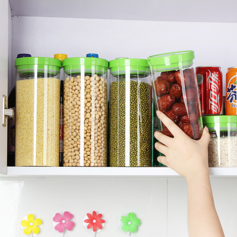 Vanzlife Mult Fuction Heat Resistance Glass Sealing Can Kitchen Storage  Container Dry Food Sealing Storage Jar