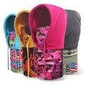 Бесплатная Доставка 2016 Новых Зимой На Открытом Воздухе Мужская Тепловая Руно Гуд лыжный Велосипед Зимний Ветрозащитный Маска Цветочные Пламени Шапочка Caps мужские