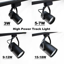 Led spotlight 3W 5W 7W 9W 12W 15W 18W track light LED lamp Orbit light/Rail light Energy saving lamp For shop /plazza