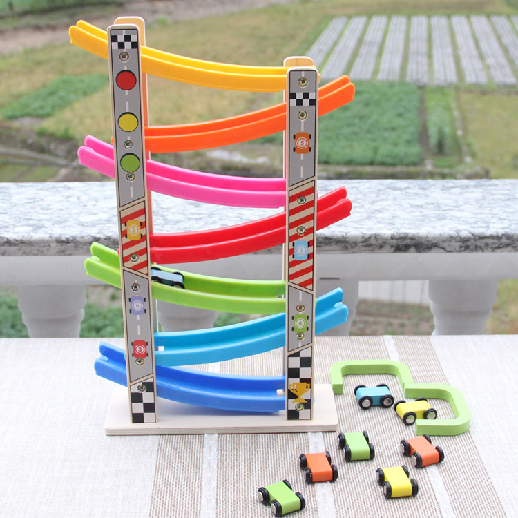 7 Color Slipway Speed Chute Car Double Way Slider Car