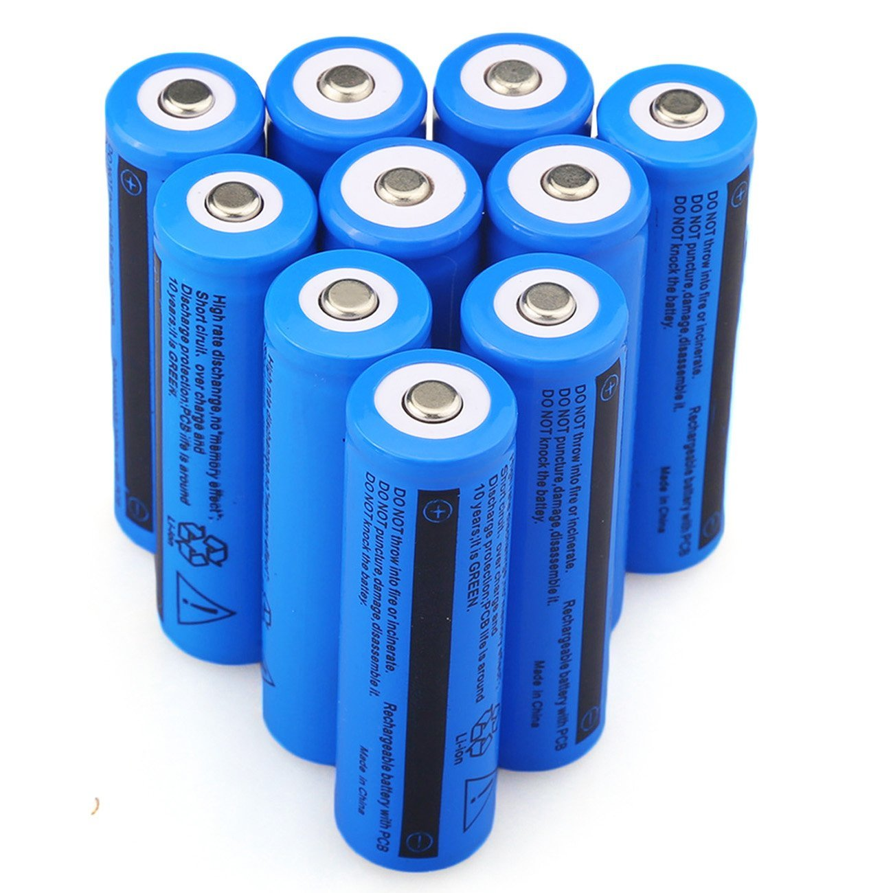 GTF 18650 3.7V <font><b>5000mAh</b></font> <font><b>Battery</b></font> Rechargeable <font><b>Batteries</b></font> for LED Flashlight