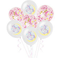 10Pcs Mixed Unicorn Balloons Pink Cartoon Helium Latex Balloon Baby Shower Horse Globe Birthday Party Decoration Favors