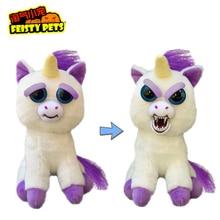 Original Feisty Pets Change Face Animal Stuffed Plush Toys Unicorn Rabbit Bear Panda Interactive Doll New Year Gift Toys For Kid