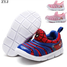 ZYJ Caterpillar для мальчиков и девочек повседневная обувь кроссовки человек-паук Детские Железный человек детский спортивный мягкая подошва дышащая анти-скользящая обувь