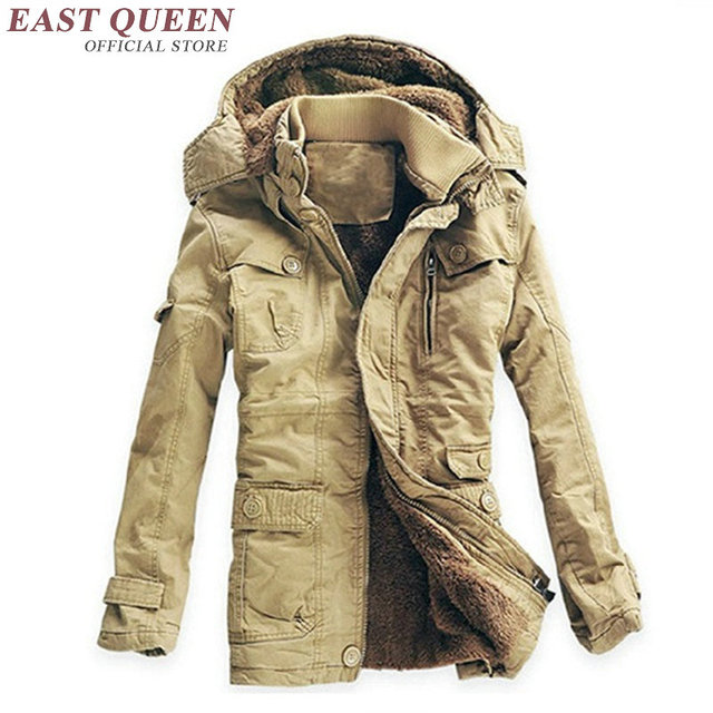 a7443705 US $103.95 45% OFF|Męska wiatrówka kurtka męska jesień męskie zimowe parki  ciepłe parki ciężkie wełny męska kurtka zimowa KK1604 H w Męska ...