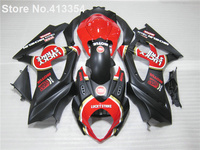 New hot compression molding fairings for Suzuki GSXR 1000 07 08 red black motorcycle fairing kit GSXR1000 2007 2008 RY49