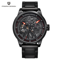 PAGANI DESIGN Men's Classic Stainless Steel Mechanical Watches Waterproof mens watches top luxury Hollow Automatic Watch/PD 1625