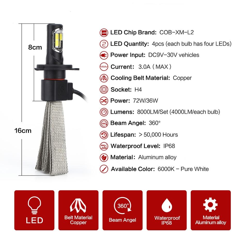 9005 HB3 H10 Socket LEADTOPS 2PCS//SET Led Car Headlight Kit 60W 6400LM Driving Lamp Bulb Car External Fog Head Light Arc-Beam CREE Chip
