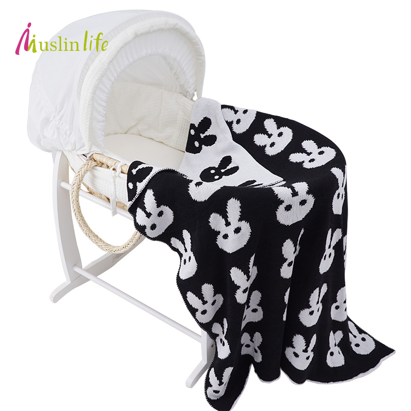 Clearance!!!!Ins Hot Cotton Knitted Baby Blanke, Autumn Winter Stroller Blanket Kids Patterned Cross/Clauds/Heart Available 10+