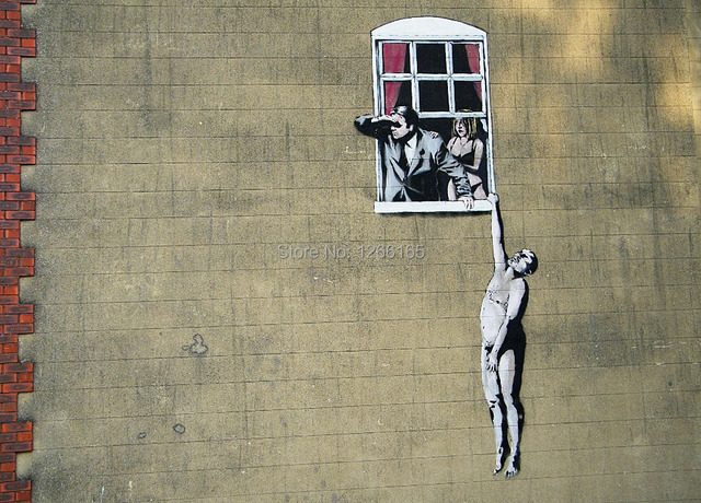 Banksy Graffiti Betrayal Print On Canvas Abstract Street Art Home
