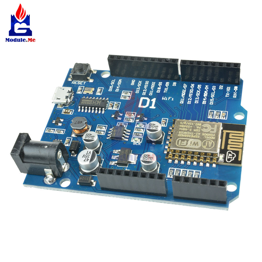 OTA WeMos D1 CH340 CH340G WiFi Development Board ESP8266 ESP-12 ESP-12E Module For Arduino IDE UNO R3 Micro USB ONE 3.3v 5v 1A atmega32u4 esp8266 esp12e badusb tf micro sd virtual keyboard development board for arduino