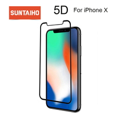 Suntaiho 5D Cold Carving Curved Edge 9H Tempered glass For iphone XS MAX HD Full Coverage Screen Protector For iphone XS XR X