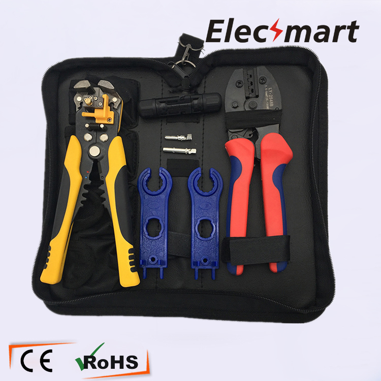 LY-2546 Crimping Plier Automatic Wire Stripper Set with MC4 Connector MC4 Wrench