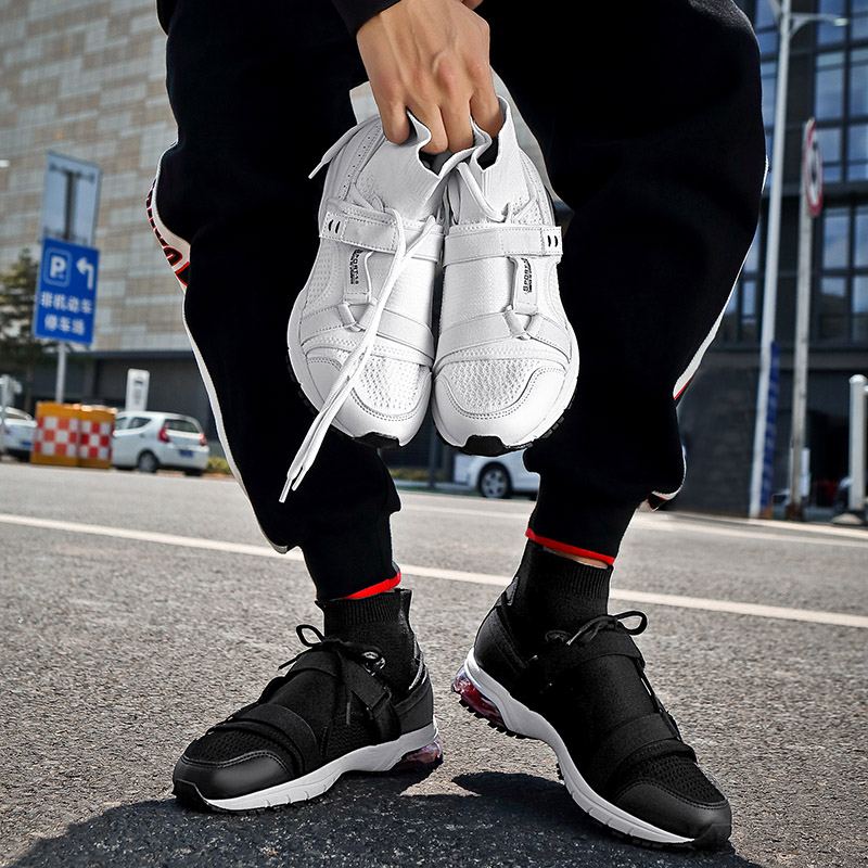 2018 New High Socks Shoes Men 39 s White Hovercraft Shoes Korean Version of The Trend of The Leisure Shoes Mesh Shoes Size 39 45 5 in Men 39 s Casual Shoes from Shoes