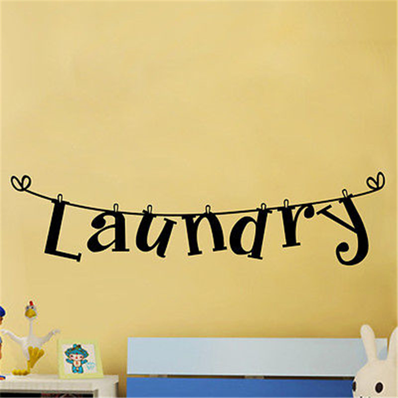 Laundry Wall Sticker Art Decal Vinyl Stickers Lettering DIY Laundry ...
