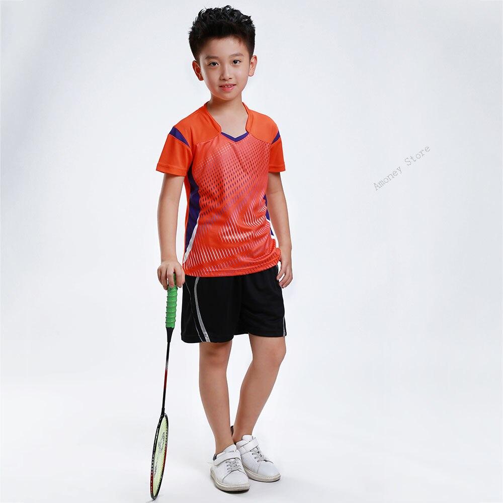 Camisas + Shorts Camisa de Secagem Shirt do Miúdo Crianças de Ténis de Mesa Adsmoney Tênis Crianças Ternos Rápida Badminton Suit Jersey