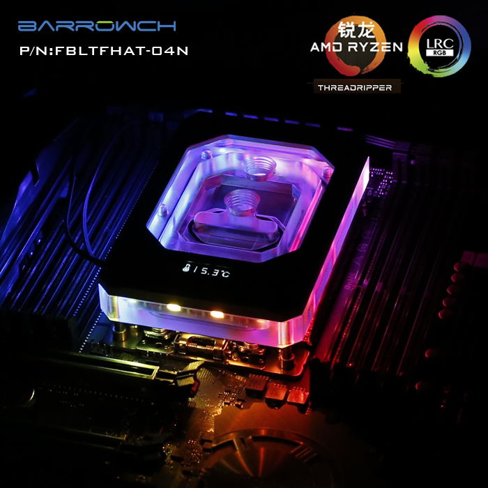 Barrowch FBLTFHAT-04N CPU waterblock 0.4MM microcutting micro waterway for AMD RYZEN THREADRIPPER x399