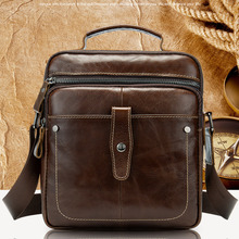 Genuine Leather Bags Men Travel Messenger Bag Brown/coffe For Soft Small Handbag Male Crossbody Mochila 8713