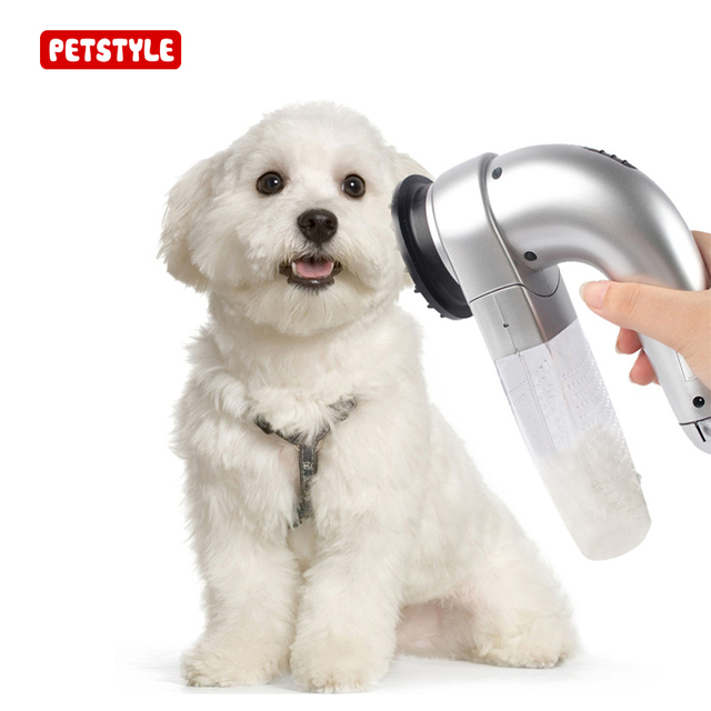 Electric Pet Hair Vacuum Removal Fur Suction Grooming Device Pets Dog Accessories Cordless Portable Massage