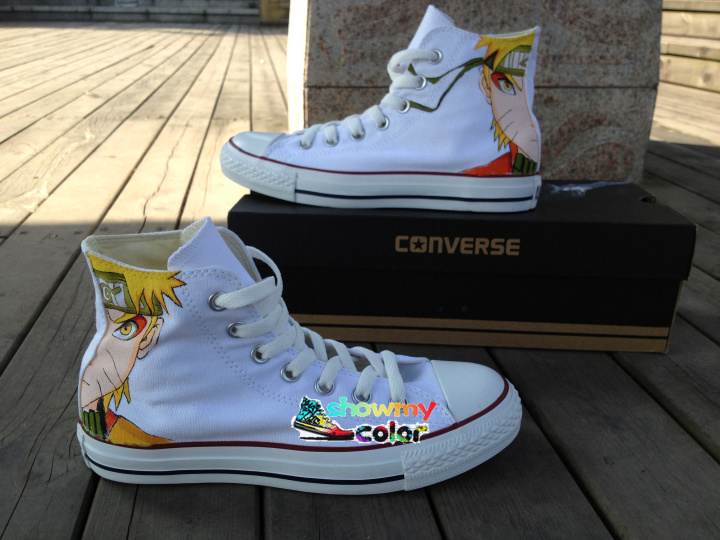 Men Women Converse All Star Canvas Shoes Uzumaki Naruto Custom Design Hand Painted High Top White Sneakers Cosplay Gifts dictionnaire de citations francaises