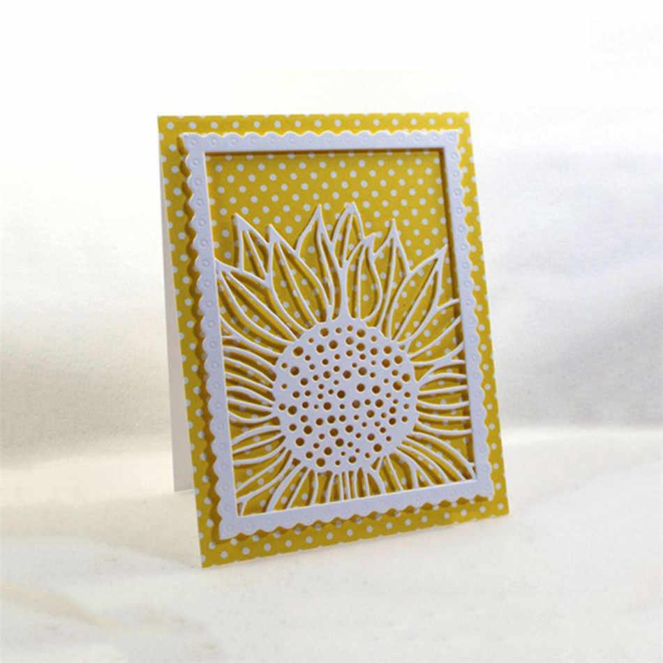 Eastshape Подсолнечник фон металлическая резка Скрапбукинг тиснение штампы для рукоделия альбом «сделай сам» бумажные художественные карточки сделать панели