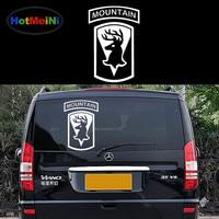 HotMeiNi Mooie Berg Gift van God Moose Klassieke Tekenen Auto Stickers RV SUV Deur Zijruit Auto Cover Vinyl Decal 9 Kleuren