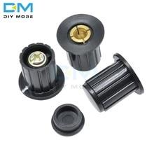 5 pçs WXD3-13 WXD3-12 1w 2 preto potenciômetro botão rotativo ajustável wirewound potenciômetro tampão 3590s inserção 4mm plástico metal