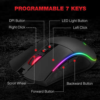 HAVIT Mechanical Keyboard Blue / Red Switch LED or RGB Gaming Keyboards 87 / 104 keys for Tablet Desktop Russian / US sticker