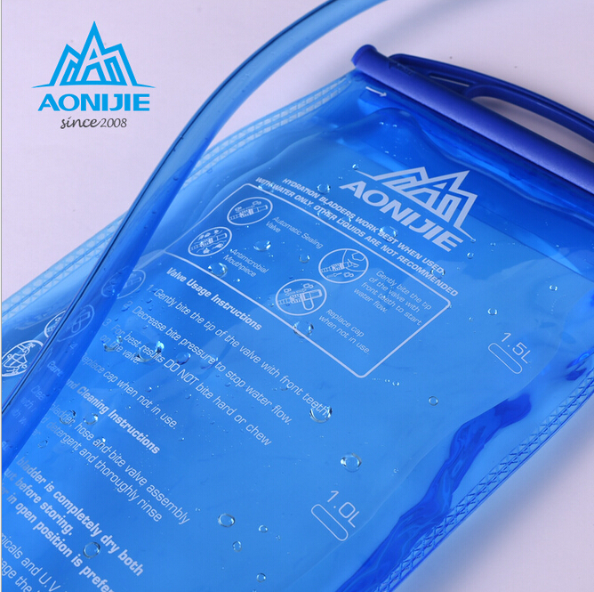 AONIJIE Outdoor Cycling Running Foldable PEVA Water Bag Sport Hydration Bladder for Camping Hiking Climbing 1 5L 2L 3L in Water Bags from Sports Entertainment