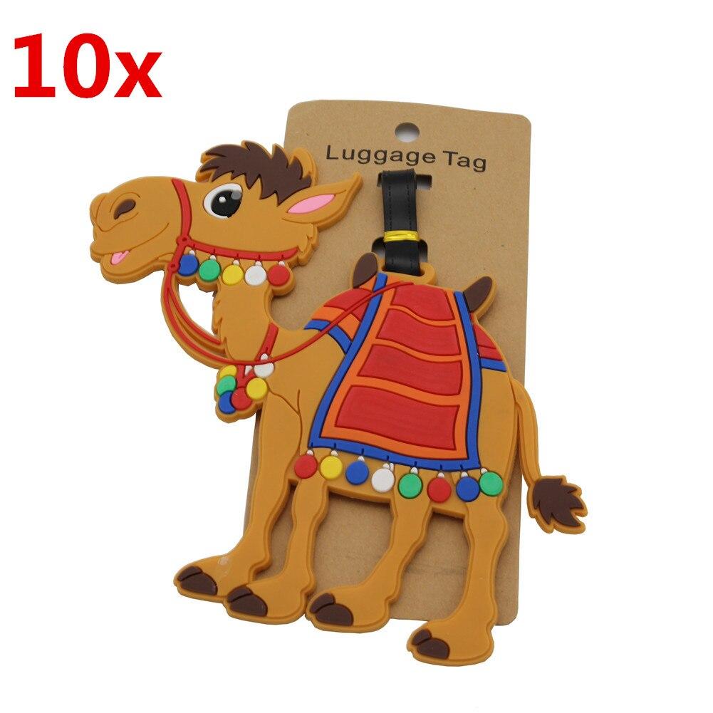 10X DEZEMIN Camel étiquette à bagages pour valise sacs voyage en gros