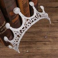 Luxury Crystal Rhinestone Queen Crown Diadem Wedding Hair Accessories Headpiece Pageant Bridal Crowns Tiaras Birthday Gifts