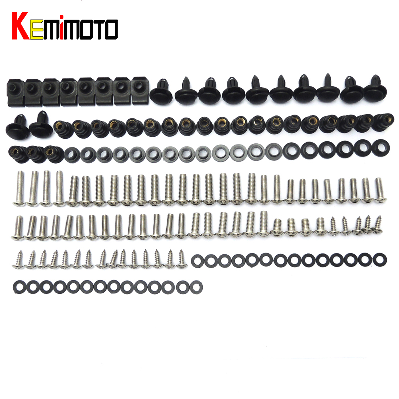 KEMiMOTO Complete Full Set of Fairing Bodywork Body Work Bolts Kit Screws Washers Nuts For HONDA CBR600RR 2007 2008 2009 2010 цена