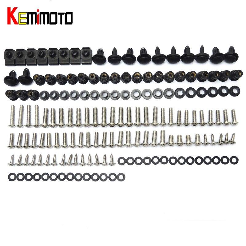 KEMiMOTO Complete Full Set of Fairing Bodywork Body Work Bolts Kit Screws Washers Nuts For HONDA CBR600RR 2007 2008 2009 2010