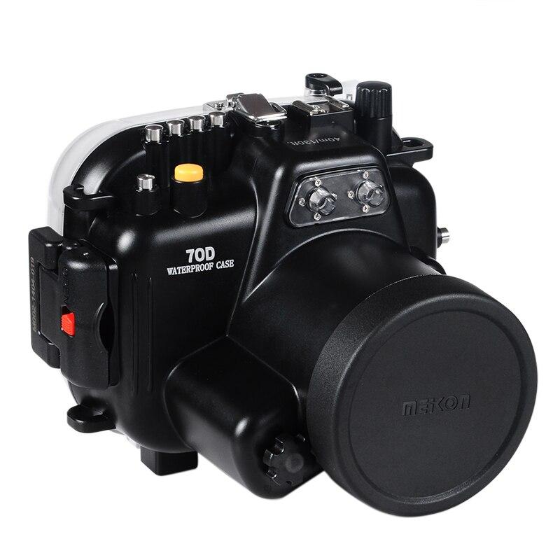 Boîtier sous-marin étanche boîtier de caméra boîtier de plongée pour objectif Canon 70D 18-135mm