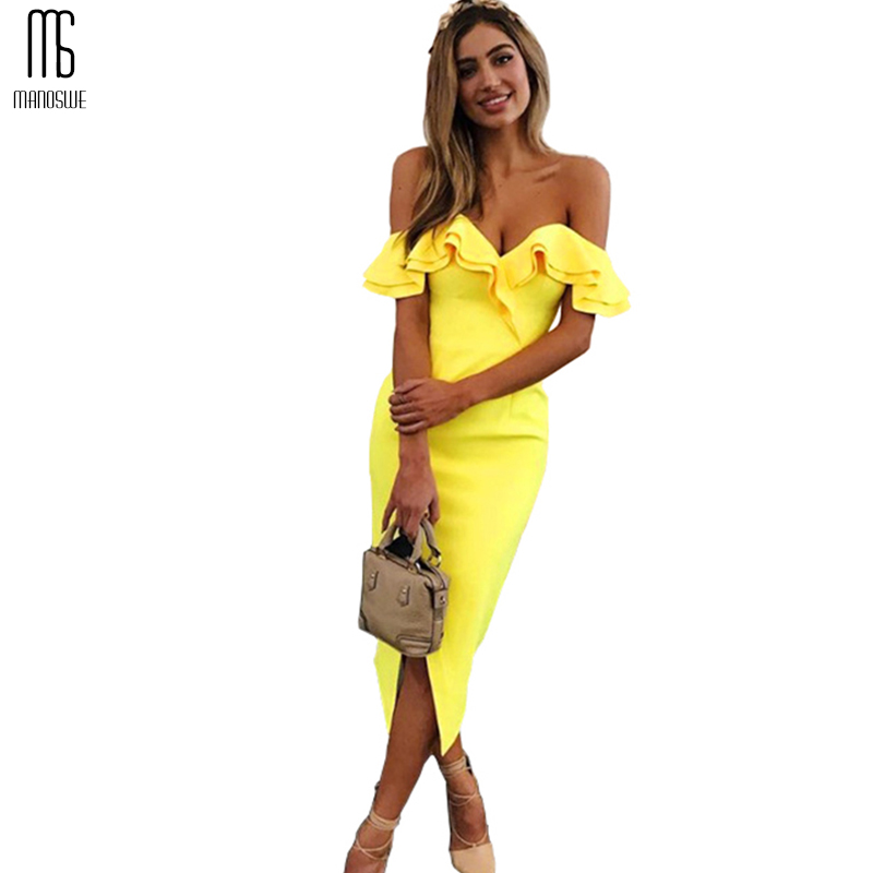 Off Shoulder Ruffle White Summer Dress Butterfly Sleeve Vestido Slash Neck Sexy Slim Sheath Split Party Dresses Short Women 2018