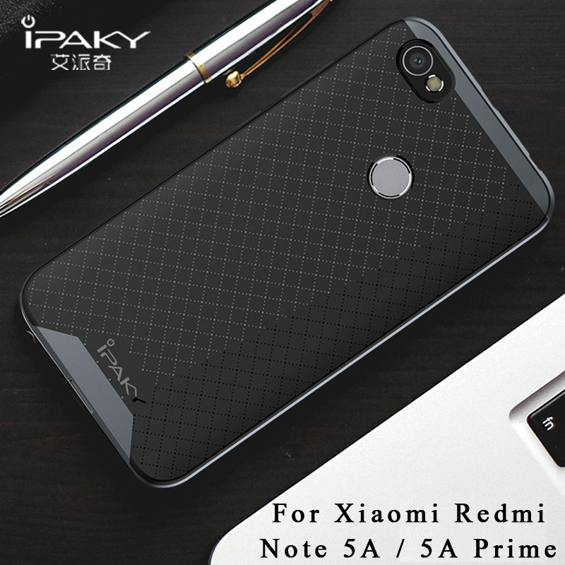 ipaky Cases For Xiaomi Redmi Note 5 Case Xiaomi Redmi Note 5a prime Case Silicone Cover +PC Frame For Xiaomi Redmi Y1 Lite Cover