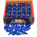 Forged Aluminum Spiked Wheel Nut Universal BLOX Wheel Nut Blue Color Car Lug Nuts With Spike M12X P1.5