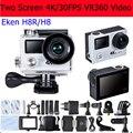"""4 K Câmera de Ação Original Eken Autorizado H8/H8R WIFI VR360 ultra 4 K/30fps Wi-fi 2.0 """"Dual LCD Controle Remoto Capacete Dos Esportes Cam"""