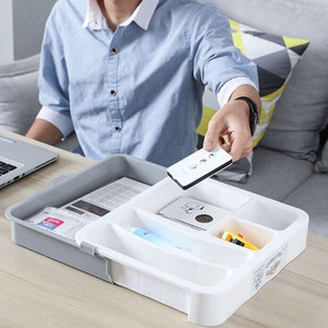 Image 2 - Room Dressing Table Desktop Sundries Storage Box Double Layer Storage Boxes Bag Organizer Home Accessories 2019 New Dropshipping
