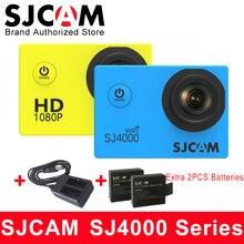 SJCAM SJ4000 и SJ4000 WI-FI действие Камера 1080 P HD 30 м Водонепроницаемый Видео Спорт DV SJ Cam 4000 + дополнительные 2 шт. + двойной Зарядное устройство
