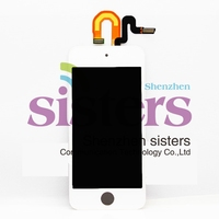 10Pcs/lot White/Black Hight Quality Guaranteed LCD Display + Touch Screen Digitizer Full Assembly For ipod touch5, Free shipping