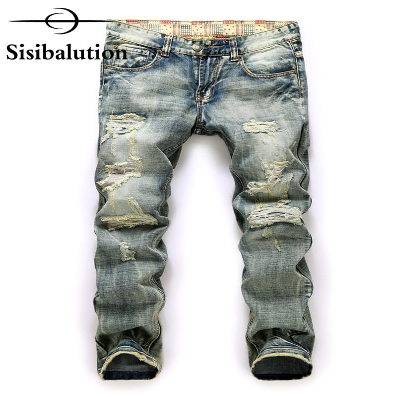 2017 Mode Marke Luxus Qualität Männer Casual Denim Jeans Hose Gerade Blau Pop Schlanke Vintage Jeans Gepatcht Männlichen Biker Jean Schmerzen Haben