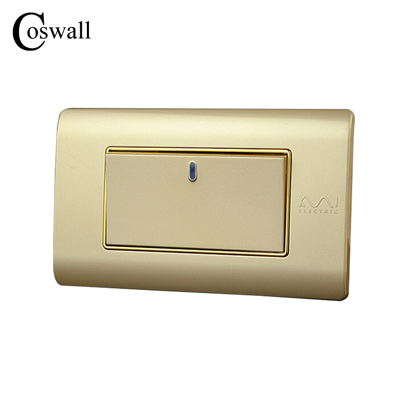 Free Combination, Kempinski Luxury 1 Gang 2 Way Wall Switch, Light Switch, 118*72mm, AC 110~250V, C5 series kempinski wall switch 3 gang 1 way light switch champagne gold color special texture c31 sereis 110 250v popular