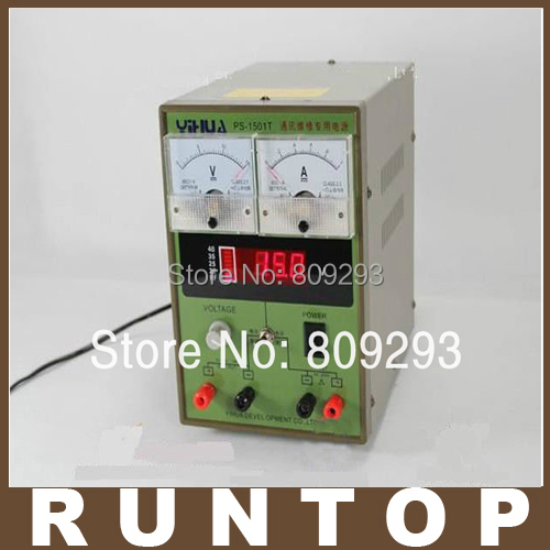 ФОТО YIHUA 1501T 15V 1A Adjustable DC Power Supply LED Display Mobile Phone Repair Power Test Regulated Power Supply