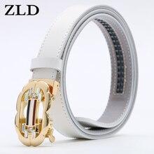 ZLD женский ремень роскошный известный модный дизайнерский бренд высокого качества ремень из натуральной кожи автоматический ремень с храповой пряжкой ремни для платья