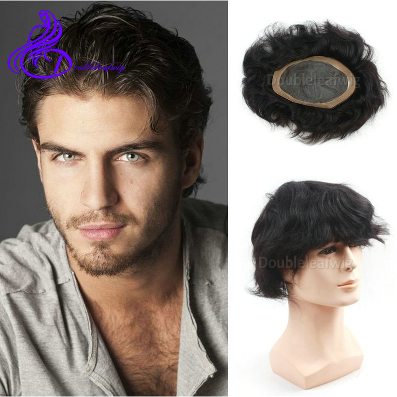 short natural hair men's wigs 7x10