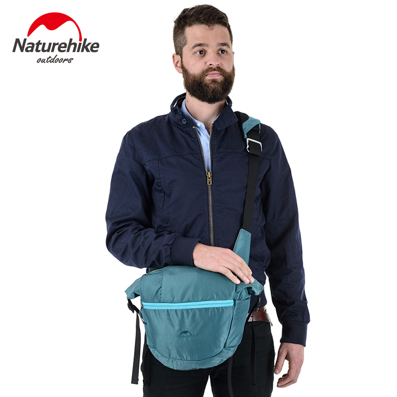NatureHike Brand  Bag Nylon Sport Bags Men Women Outdoor Hiking Bicycle Bags Running Small Set Green Blue Red Black 8L universal nylon cell phone holster blue black size l
