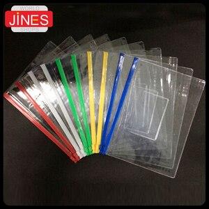 Image 4 - Ensemble de sacs de papeterie A4/A5/A6, sacs transparents en PVC de haute qualité, sac à bords transparents de bureau et fournitures scolaires pour les données sur les factures