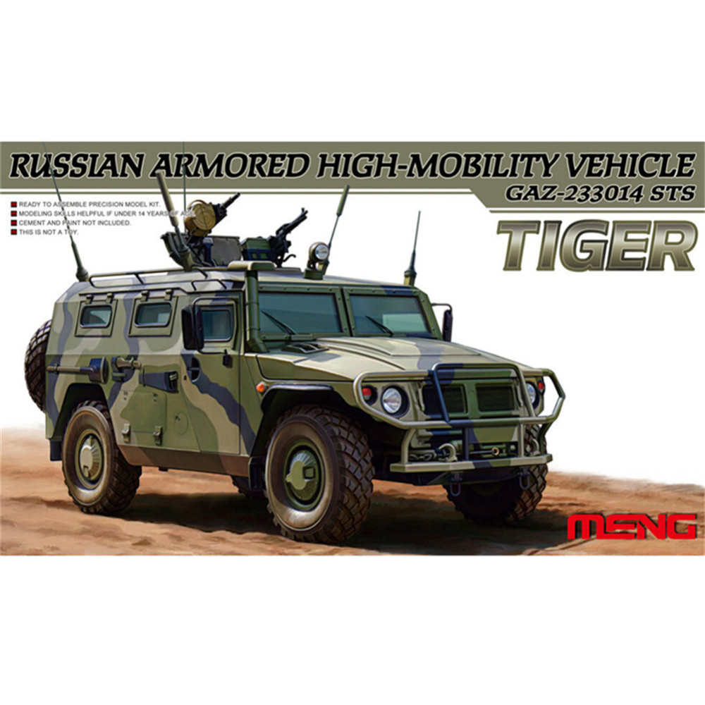 все цены на OHS Meng VS003 1/35 Russian Armored High Mobility Vehicle GAZ-233014 STS Tiger Military Truck Model Building Kits oh онлайн