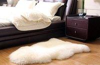 Single Pelt Real Sheepskin Rug Chair Cover Ivory Australia Nature Wool Rug Bedroom Fur Sheepskin Carpet Bay Window Pad Floor Mat